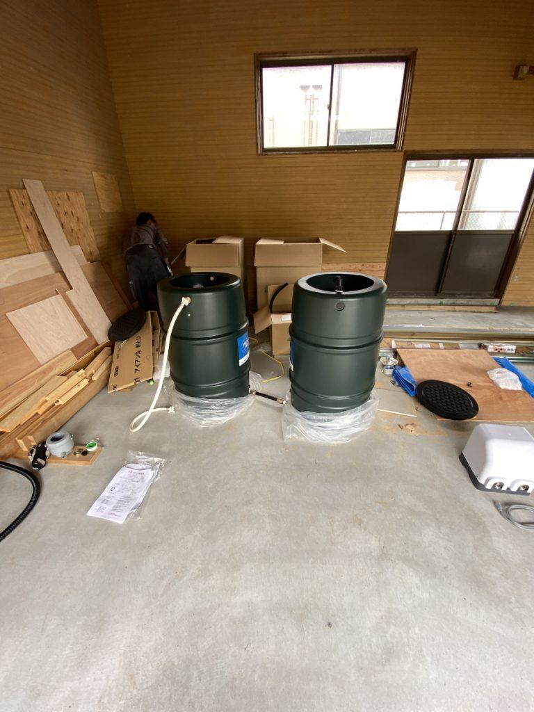 雨水タンクの配置検討