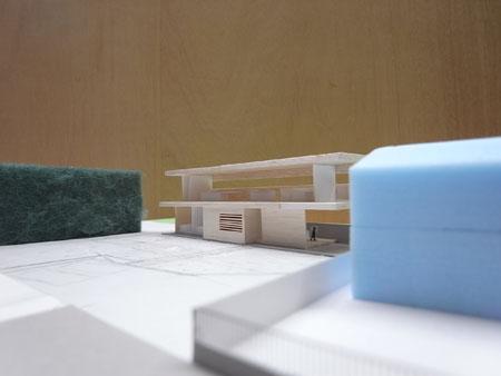 シマブルーレストラン棟模型