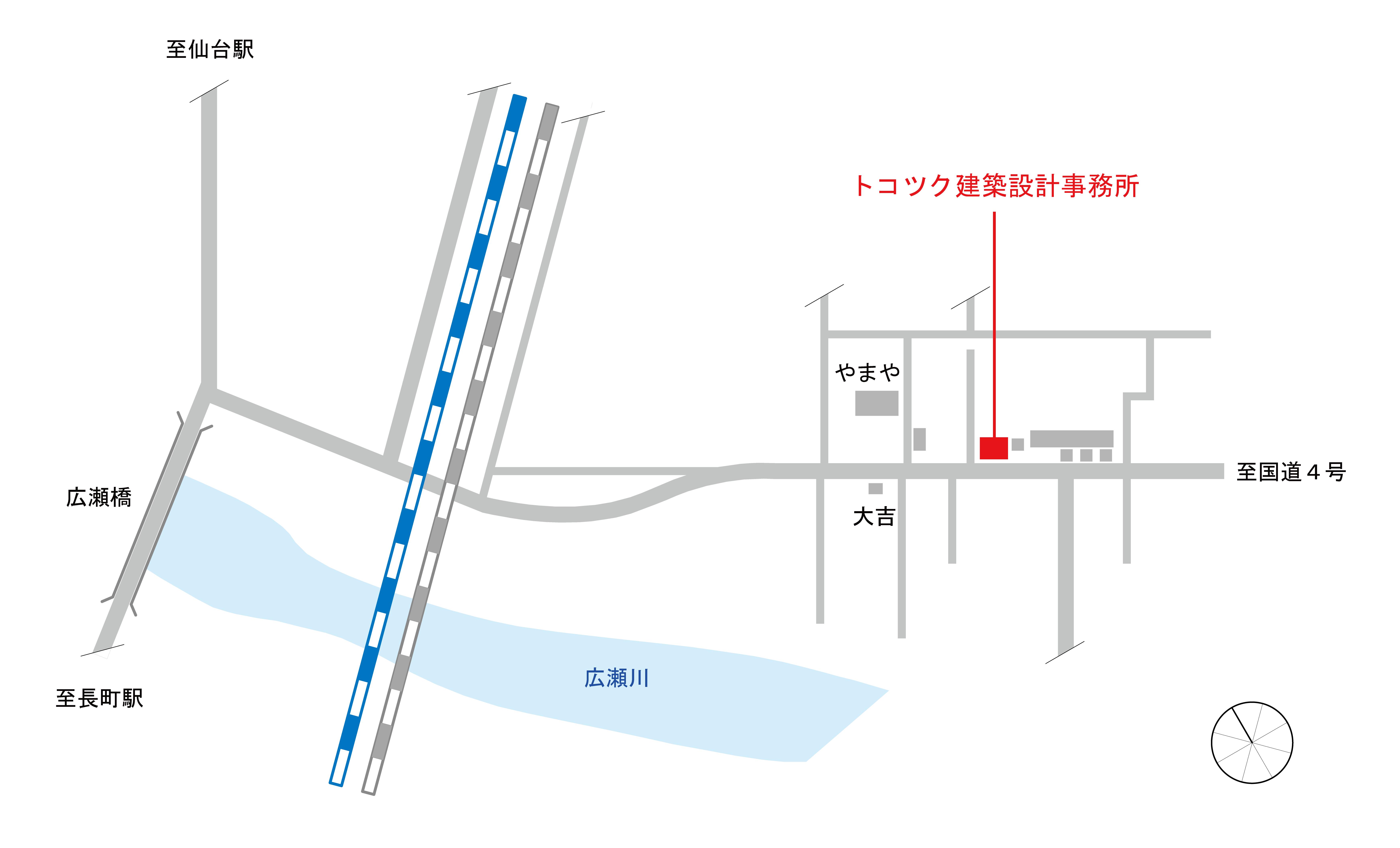 トコツク建築設計事務所への地図